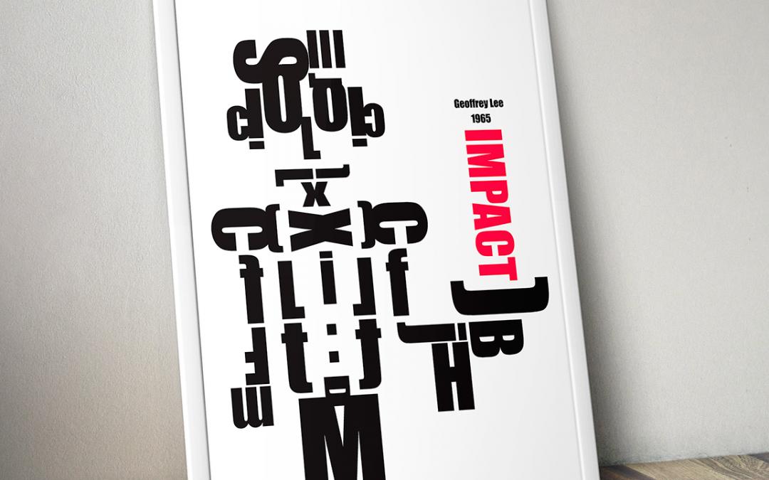 Cartel tipográfico Impact