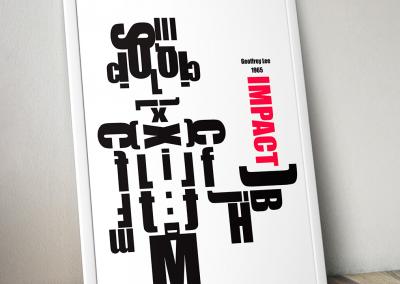 Poster Tipografico Impact